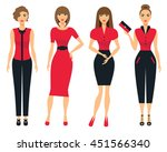 set of business clothes for... | Shutterstock .eps vector #451566340