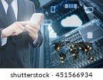 double exposure of professional ... | Shutterstock . vector #451566934