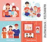 family concept icons set with... | Shutterstock .eps vector #451568698