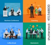 business conference concept.... | Shutterstock .eps vector #451568830
