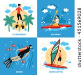 Water Sport Concept. Water...