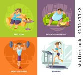 obesity and health concept...   Shutterstock .eps vector #451571173