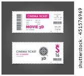 3d movie ticket cinema concept... | Shutterstock .eps vector #451576969