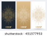 modern set of vector flyers.... | Shutterstock .eps vector #451577953