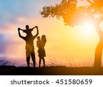 silhouette  people family... | Shutterstock . vector #451580659