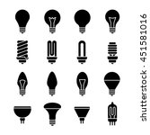 electricity lamp signs. light... | Shutterstock .eps vector #451581016