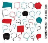 Speech Bubbles Hand Drawn...