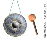 Thai Native Gong Isolated On...
