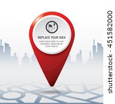 check in location on the map... | Shutterstock .eps vector #451582000