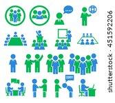 human office icon set | Shutterstock .eps vector #451592206