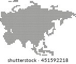 map of asia | Shutterstock .eps vector #451592218