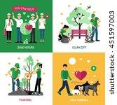 volunteers 2x2 design concept... | Shutterstock .eps vector #451597003