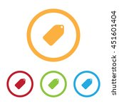 colorful tag labels icons with...