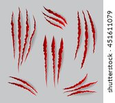 vector cat claws marks set.... | Shutterstock .eps vector #451611079