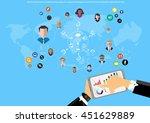 vector businessman... | Shutterstock .eps vector #451629889
