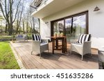 big wooden cozy porch with... | Shutterstock . vector #451635286