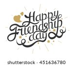 happy friendship day hand... | Shutterstock .eps vector #451636780