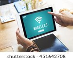 internet wifi connection access ... | Shutterstock . vector #451642708