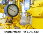 pressure gauge for monitoring... | Shutterstock . vector #451643530