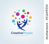 creative people logo | Shutterstock .eps vector #451649554