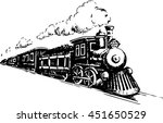 old steam locomotive. vector... | Shutterstock .eps vector #451650529