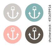 nautical anchor vector. anchor... | Shutterstock .eps vector #451659916