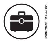briefcase  icon. flat design.