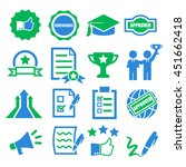 qualification  certificate icon ... | Shutterstock .eps vector #451662418
