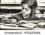 elementary school scene. | Shutterstock . vector #451663666