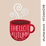 hello autumn lettering on... | Shutterstock .eps vector #451664248