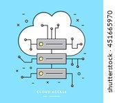 cloud computing database   thin ... | Shutterstock .eps vector #451665970