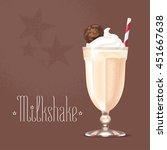 milkshake vector illustration ... | Shutterstock .eps vector #451667638