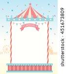 illustration vector of circus... | Shutterstock .eps vector #451673809