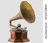 old record players take on the... | Shutterstock . vector #451673854