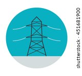 electric pylon vector icon | Shutterstock .eps vector #451681900