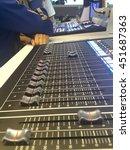 tv broadcasting switcher in... | Shutterstock . vector #451687363