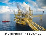 oil and gas central processing...   Shutterstock . vector #451687420