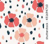vector flower pattern....   Shutterstock .eps vector #451694710