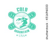 cold mointain club emblem... | Shutterstock .eps vector #451696033