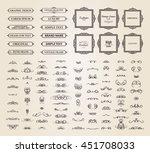 vintage set exclusive borders... | Shutterstock .eps vector #451708033