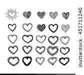 heart icon illustration design | Shutterstock .eps vector #451711240