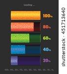 volume loading bar. battery... | Shutterstock .eps vector #451713640