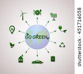 green planet vector info... | Shutterstock .eps vector #451716058