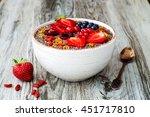 acai breakfast superfoods... | Shutterstock . vector #451717810
