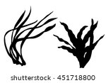 Seaweed Black Silhouettes ...