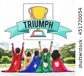 Small photo of Triumph Achievement Accomplish Accomplishment Success Concept