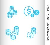 coins in the stack. vector icon. | Shutterstock .eps vector #451721434
