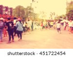 blurred of people walking in... | Shutterstock . vector #451722454