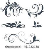 vector swirl ornate motifs. | Shutterstock .eps vector #451723168