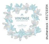 shabby chic. vintage square... | Shutterstock .eps vector #451723354